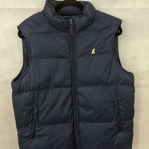 Disney RARE Mickey Mouse Navy Puffer Toggle Vest